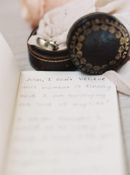 Personal wedding vows between bride & groom