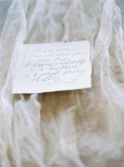 bridal portrait calligraphy details