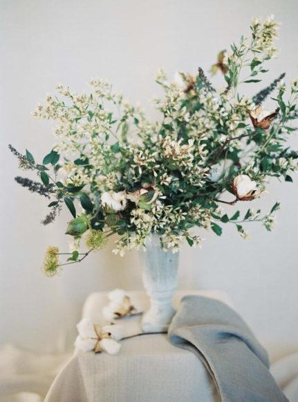 floral bouquet for organic wedding details