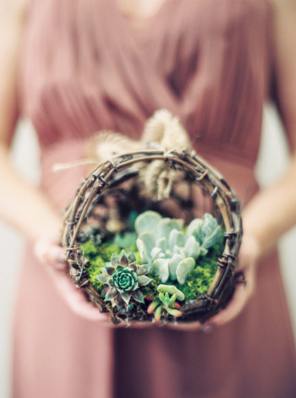 succulent bridesmaid bouquets for inspiration